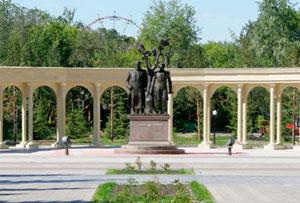 «Абай мен Пушкин» мүсiндiк композициясы